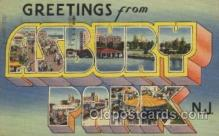 LLT100491 - Asbury Park, New Jersey, USA Large Letter Towns Postcard Postcards