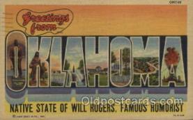 LLT100493 - Oklahoma, USA Large Letter Towns Postcard Postcards
