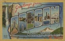 LLT100496 - Oregon, USA Large Letter Towns Postcard Postcards