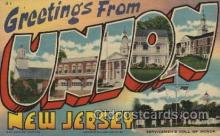 LLT100502 - Union, New Jersey, USA Large Letter Towns Postcard Postcards