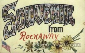 LLT100504 - Souvenir, Rockaway, USA Large Letter Towns Postcard Postcards