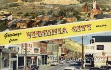 LLT100506 - Virginia City, USA Large Letter Towns Postcard Postcards