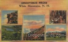 LLT100509 - White Mts. N.H., USA Large Letter Towns Postcard Postcards