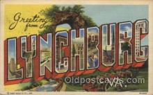 LLT100511 - Lynchburc, USA Large Letter Towns Postcard Postcards