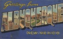 LLT100513 - Albuquerque, New Mexico, USA Large Letter Towns Postcard Postcards
