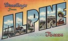 LLT100515 - Alpine, Texas, Usa Large Letter Towns Postcard Postcards