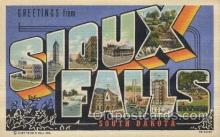 LLT100517 - Sioux Falls, South Dakata, USA Large Letter Towns Postcard Postcards