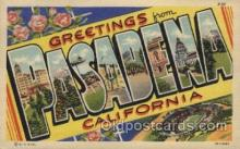 LLT100518 - Pasadena, California, USA Large Letter Towns Postcard Postcards