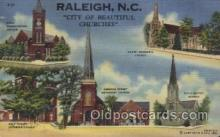 LLT100522 - Raleigh, N.C., USA Large Letter Towns Postcard Postcards
