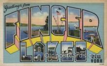 LLT100523 - Finger lakes, New York, USA Large Letter Towns Postcard Postcards
