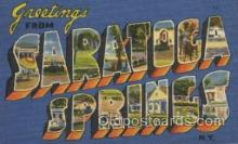 LLT100526 - Saratoca Springs, N.Y., USA Large Letter Towns Postcard Postcards