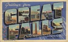 LLT100527 - Great Falls, Montana, USA Large Letter Towns Postcard Postcards