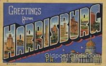 LLT100530 - Harrisburg, Pa., USA Large Letter Towns Postcard Postcards