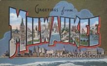 LLT100532 - Milwaukee, USA Large Letter Towns Postcard Postcards
