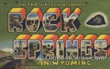 LLT100533 - Rock Springs, Wyoming, USA Large Letter Towns Postcard Postcards