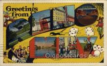 LLT100537 - Reno, Nevada Large Letter Town Towns Post Cards Postcards