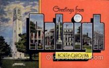 LLT100542 - Raleigh, North Carolina Large Letter Town Towns Post Cards Postcards