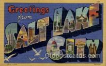 LLT100546 - Salt Lake City, Utah Large Letter Town Towns Post Cards Postcards