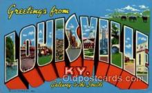 LLT100548 - Louisville, Kentucky Large Letter Town Towns Post Cards Postcards