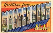 LLT100550 - Montgomery, Alabama Large Letter Town Towns Post Cards Postcards