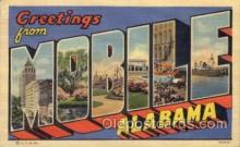 LLT100551 - Mobile, Alabama Large Letter Town Towns Post Cards Postcards