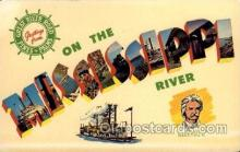 LLT100552 - Mississippi River Large Letter Town Towns Post Cards Postcards