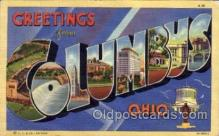 LLT100559 - Columbus, Ohio Large Letter Town Towns Post Cards Postcards