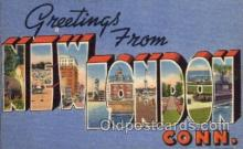 LLT100560 - New London, Connecticut Large Letter Town Towns Post Cards Postcards