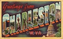 LLT100561 - Charleston, West Virginia Large Letter Town Towns Post Cards Postcards