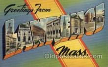 LLT100569 - Lawrence, Massachusetts Large Letter Town Towns Post Cards Postcards