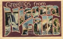 LLT100570 - Niagara Falls Large Letter Town Towns Post Cards Postcards