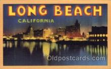 LLT100572 - Long Beach, California Large Letter Town Towns Post Cards Postcards