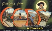 LLT100574 - Cody, Wyoming Large Letter Town Towns Post Cards Postcards