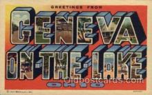 LLT100577 - Geneva-On-The-Lake, Ohio Large Letter Town Towns Post Cards Postcards