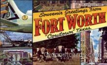 LLT100580 - Fort Worth, Texas Large Letter Town Towns Post Cards Postcards
