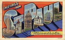 LLT100581 - St. Paul, Minnesota Large Letter Town Towns Post Cards Postcards