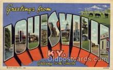 LLT100588 - Louisville, Kentucky Large Letter Town Towns Post Cards Postcards
