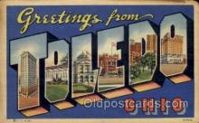 LLT100590 - Toledo, Ohio Large Letter Town Towns Post Cards Postcards