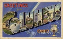 LLT100591 - Columbus, Ohio Large Letter Town Towns Post Cards Postcards