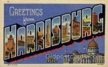 LLT100592 - Harrisburg, Pennsylvania Large Letter Town Towns Post Cards Postcards