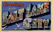 LLT100595 - Salt Lake City, Utah Large Letter Town Towns Post Cards Postcards