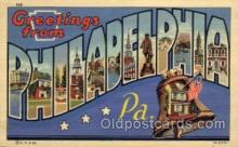 LLT100597 - Philadelphia, Pennsylvania Large Letter Town Towns Post Cards Postcards