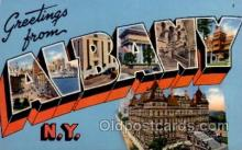 LLT100598 - Albany, New York Large Letter Town Towns Post Cards Postcards