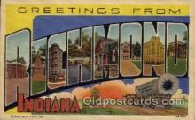 LLT100599 - Richmond, Indiana Large Letter Town Towns Post Cards Postcards