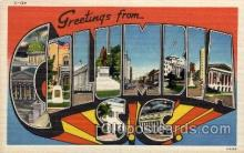 LLT100600 - Columbus, South Carolina Large Letter Town Towns Post Cards Postcards