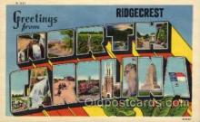 LLT100603 - Ridgecrest, North Carolina Large Letter Town Towns Post Cards Postcards
