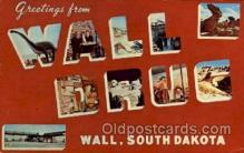 LLT100605 - Wall Drug, Wall, South Dakota Large Letter Town Towns Post Cards Postcards