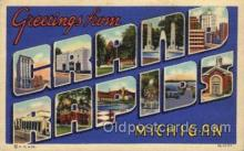 LLT100609 - Grand Rapids, Michigan Large Letter Town Towns Post Cards Postcards