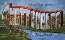 LLT100613 - Chattanooga, Tennessee Large Letter Town Towns Post Cards Postcards