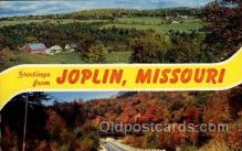 LLT100614 - Joplin, Missouri Large Letter Town Towns Post Cards Postcards